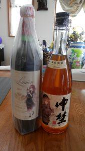 三越のワインと梅酒が到着