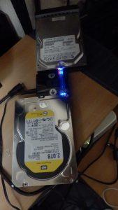TeraStationのHDDを全コピー