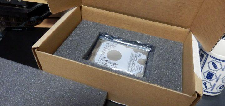 到着したWDのHDD