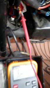 コラムスイッチの電源の確認